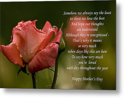 Metal Print featuring the photograph Mother's Day Card 5 by Michael Cummings