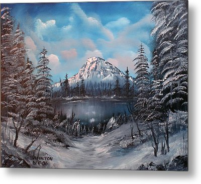 Mount Hood Oregon Metal Print by Larry Hamilton