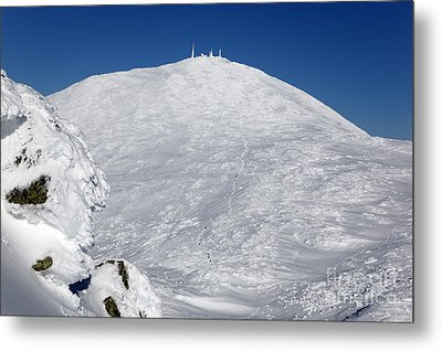Mount Washington - White Mountain New Hampshire Usa Winter Metal Print by Erin Paul Donovan