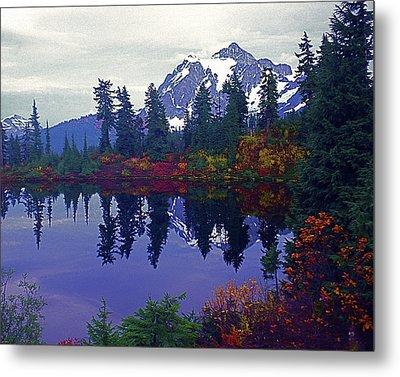 Mt. Shuksan - Picture Lake Metal Print