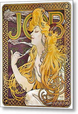 Mucha: Cigarette Papers Metal Print by Granger