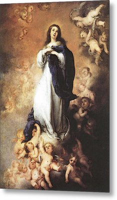 Murillo Immaculate Conception  Metal Print by Bartolome Esteban Murillo