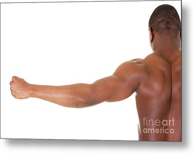 Muscular Black Man Metal Print
