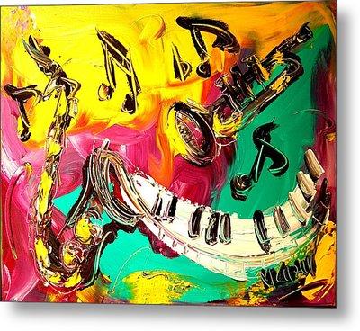 Music Jazz Metal Print by Mark Kazav