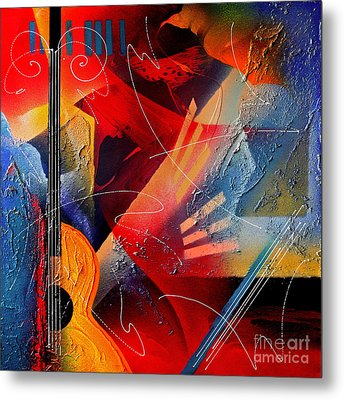 Musical Textures Series Metal Print by Andrea Tharin