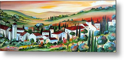 My Dream Village Metal Print