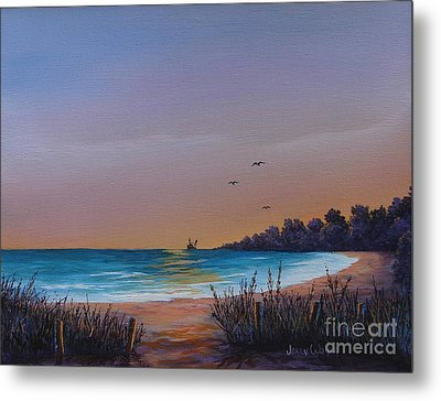 Myrtle Beach Sunset Metal Print by Jerry Walker