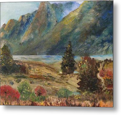 Mysterious Yosemite Valley Metal Print by Trilby Cole