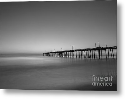 Nags Head Fishing Pier Sunrise Metal Print