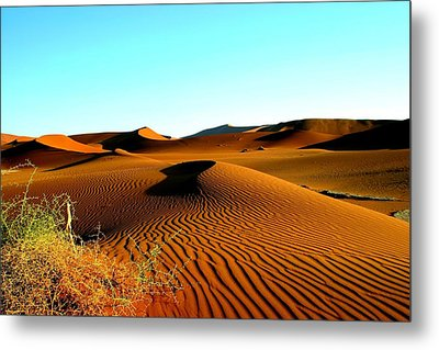 Metal Print featuring the photograph Namibia Dunes by Riana Van Staden
