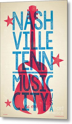 Nashville Tennessee Poster Metal Print by Jim Zahniser