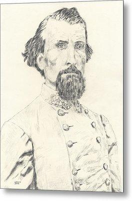 Nathan Bedford Forrest Metal Print by Dennis Larson