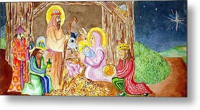 Nativity Metal Print by Jame Hayes