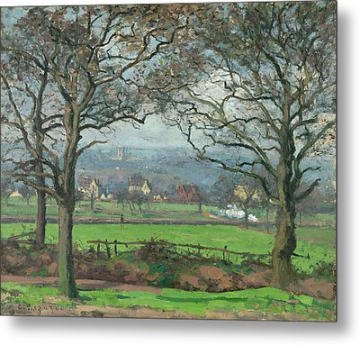 Near Sydenham Hill Metal Print by Camille Pissarro