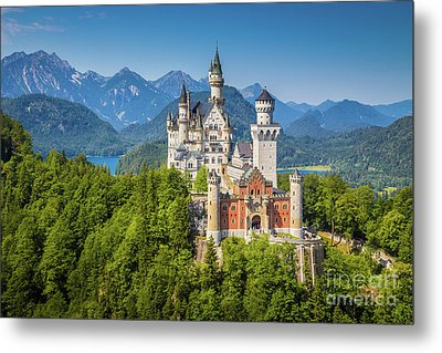 Neuschwanstein Castle Metal Print