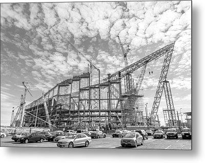 U S Bank Stadium Under Construction Metal Print