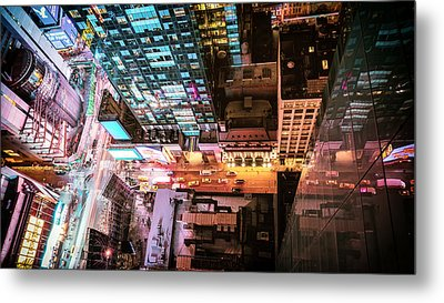 New York City - Night Metal Print by Vivienne Gucwa