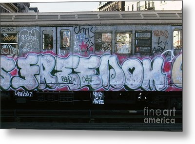 New York City Subway Graffiti Metal Print