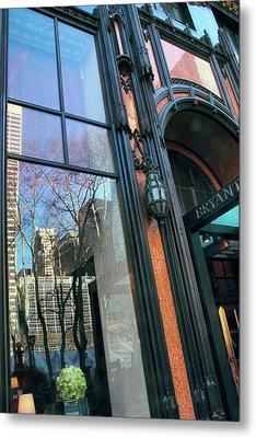 Facade Reflections Metal Print