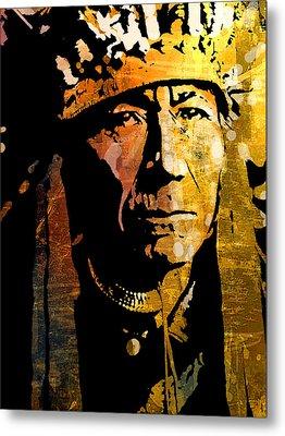 Nez Perce Chief Metal Print