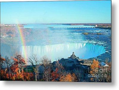 Metal Print featuring the photograph Niagara Falls Rainbow by Charline Xia