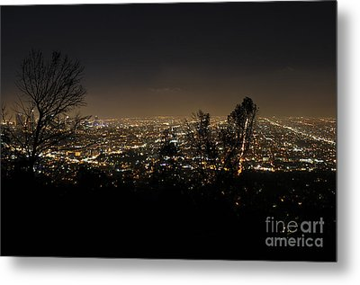 Night At Griffeth Observatory Metal Print by Clayton Bruster