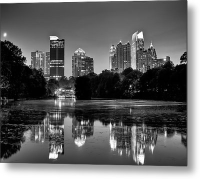 Night Atlanta.piedmont Park Lake. Metal Print by Anna Rumiantseva