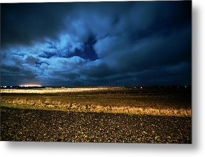 Metal Print featuring the photograph Icelandic Night  by Dubi Roman