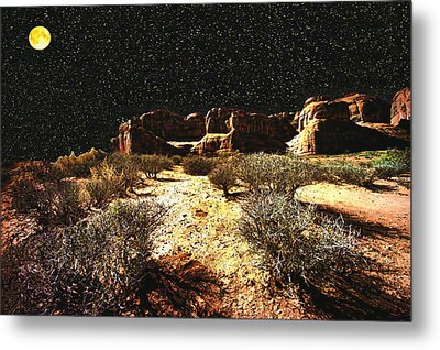 Night In The Arches Metal Print
