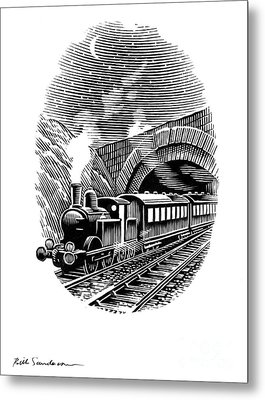 Night Train, Artwork Metal Print