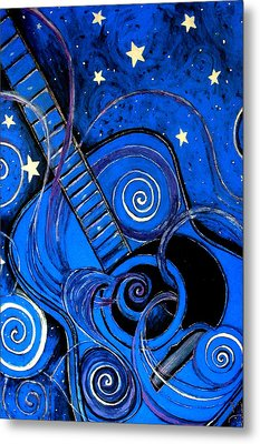 Night's Melody A.k.a. Blue Guitar Metal Print