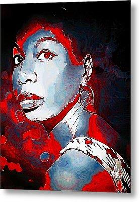 Nina Simone Metal Print by Lynda Payton