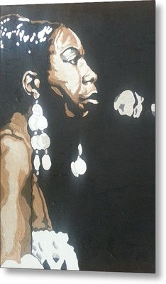 Nina Simone Metal Print by Rachel Natalie Rawlins