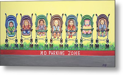 No Parking Zone Metal Print