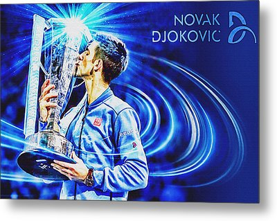 No1e  -  Novak Djokovic Metal Print