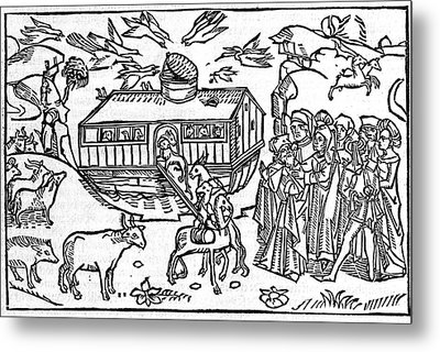 Noah's Ark, 16th-century Bible Metal Print by King's College London