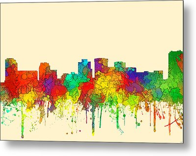 Norfolk Virginia Skyline Metal Print