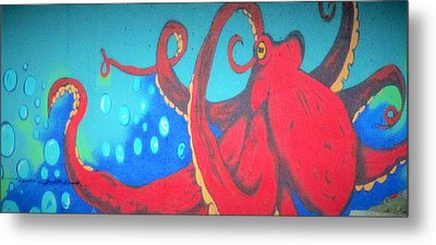 Octopus Metal Print by Martin Cline