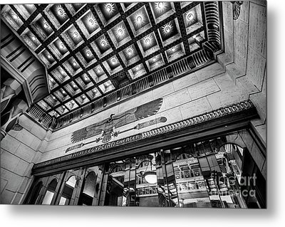 Ogden's Historic Peery's Egyptian Theater At Night Metal Print by Gary Whitton
