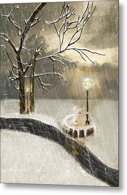 Oh Let It Snow Let It Snow Metal Print by Angela A Stanton