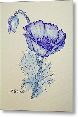 Oh Poppy Metal Print by Marna Edwards Flavell