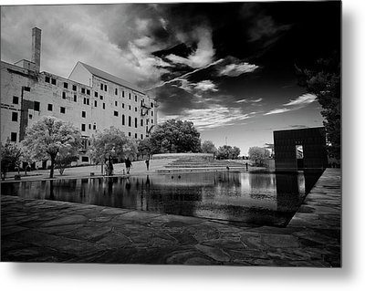 Okc Memorial Metal Print by Ricky Barnard