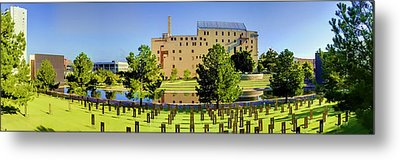Oklahoma City National Memorial Metal Print by Ricky Barnard