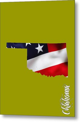 Oklahoma State Map Collection Metal Print by Marvin Blaine