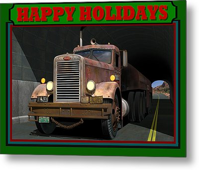 Ol' Pete Happy Holidays Metal Print by Stuart Swartz