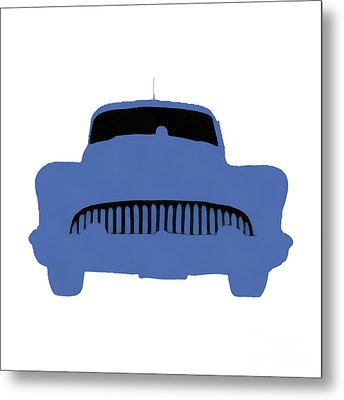 Old 53 Buick Orange Pop Art Metal Print