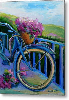 Old Bicycle On The Front Porch Metal Print