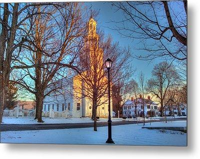 Old First Church - Bennington Vermont Metal Print by Joann Vitali