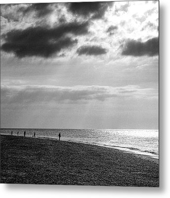 Old Hunstanton Beach, Norfolk Metal Print by John Edwards