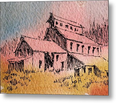 Old Mill Cable Ghost Town Montana_ Metal Print by Kevin Heaney